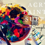 Acrylic Painting Supplies for Beginners - what is essential and what is optional? You can't start your painting journey without proper painting tools. But there are so many different supplies available... so let's find out what you really need for start. Smart Art Materials