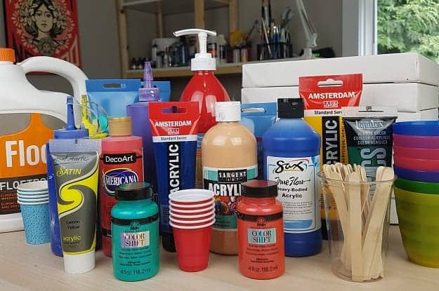 Acrylic Paint Pouring Supplies - Essentials and Fancy Add-ons