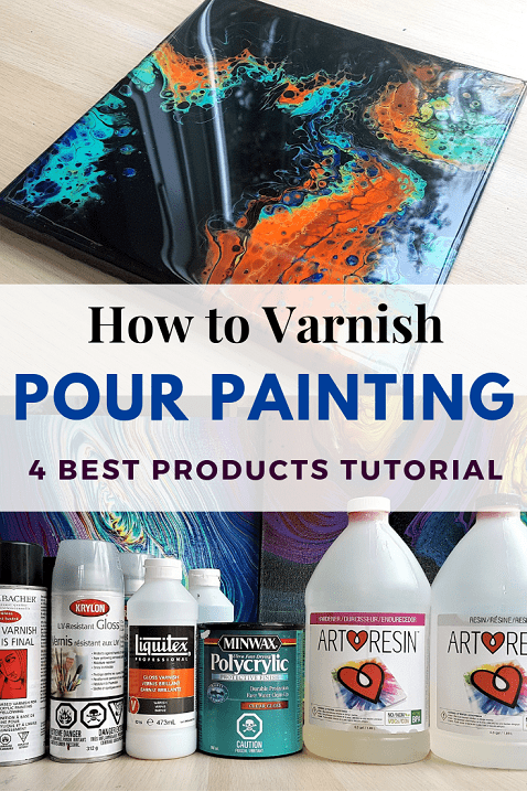 How to Varnish Pour Painting - TOP 4 Finishes from Spray